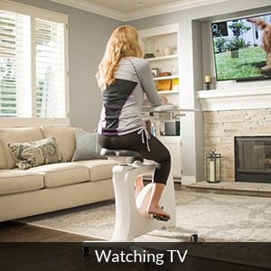flexispot desk bike - watching tv