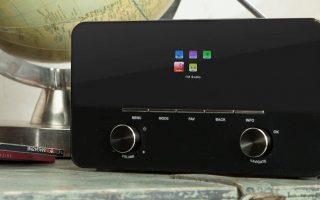 Best internet radio AUNA Internet radio wi-fi mp3 usb aux remote 1440