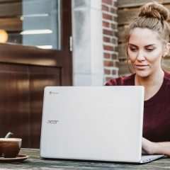 best laptop - girl working - acer aspire