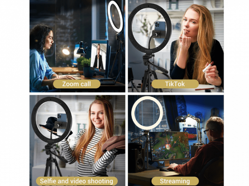 Tonor Ring Light With Stand - Zoom YouTube - Selfie - Streaming