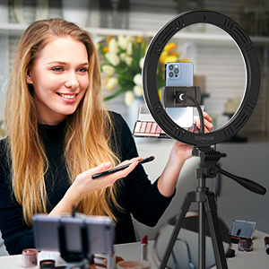 Ring Light With Stand - makeup