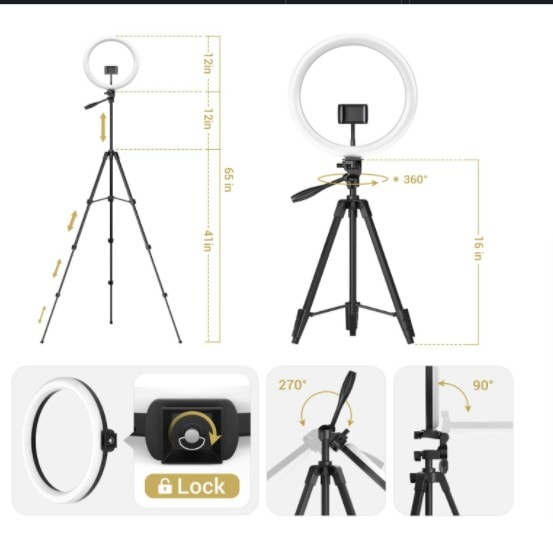 Ring Light With Stand - tripod