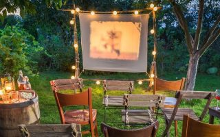 How to Build an Outdoor Movie Theater in Your Own Backyard